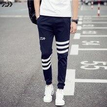 Новинка, штаны для рыбалки Daiwa, дышащие, в полоску, весна-осень, пэчворк, мужские спортивные штаны, для улицы, для пешего туризма, для бега, спортивные штаны