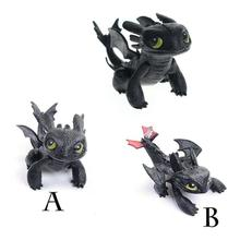 8cm Night Fury Toothless Dragon PVC Action Figure Model Toys for Kids Gift