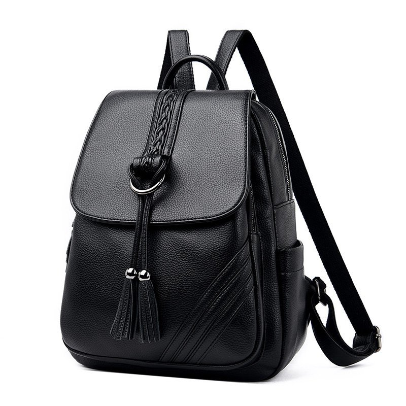 High Quality Backpack Women Casual Bagpack High Quality Simple Female Shopping Bag Wear-resistant Black Daily Female Wild Bags