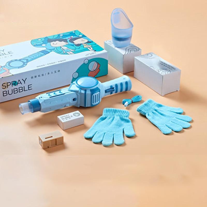 New Smoke Magic Bubble Machine Wedding Supplies Electric Automatic Bubble Bottle Maker Gun Kids Bath Toys Outdoor Toy for Kids img4