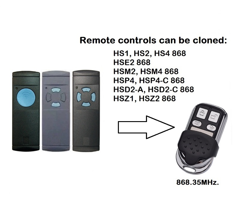 HSM2 868 Replacement Remote Control HSM2 Garage Door Remote Control 868.3MHz