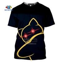 SONSPEE Cartoon Pokemon Snorlax T-shirt 3D Print Men Women Tshirt Casual Summer Short Sleeve Fashion Oversized Shirts Streetwear 5
