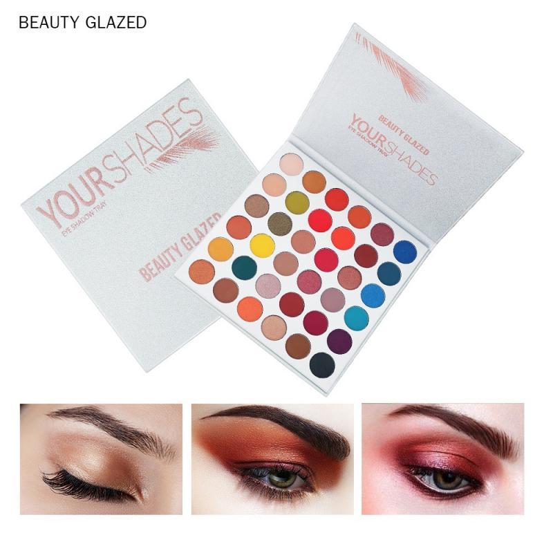 Beauty Glazed Makeup Maquillaje Eyeshadow Palette Shimmer Matte Glitter Eye Shadow Pallete Shades Pigmented Warm Cosmetics PTCS