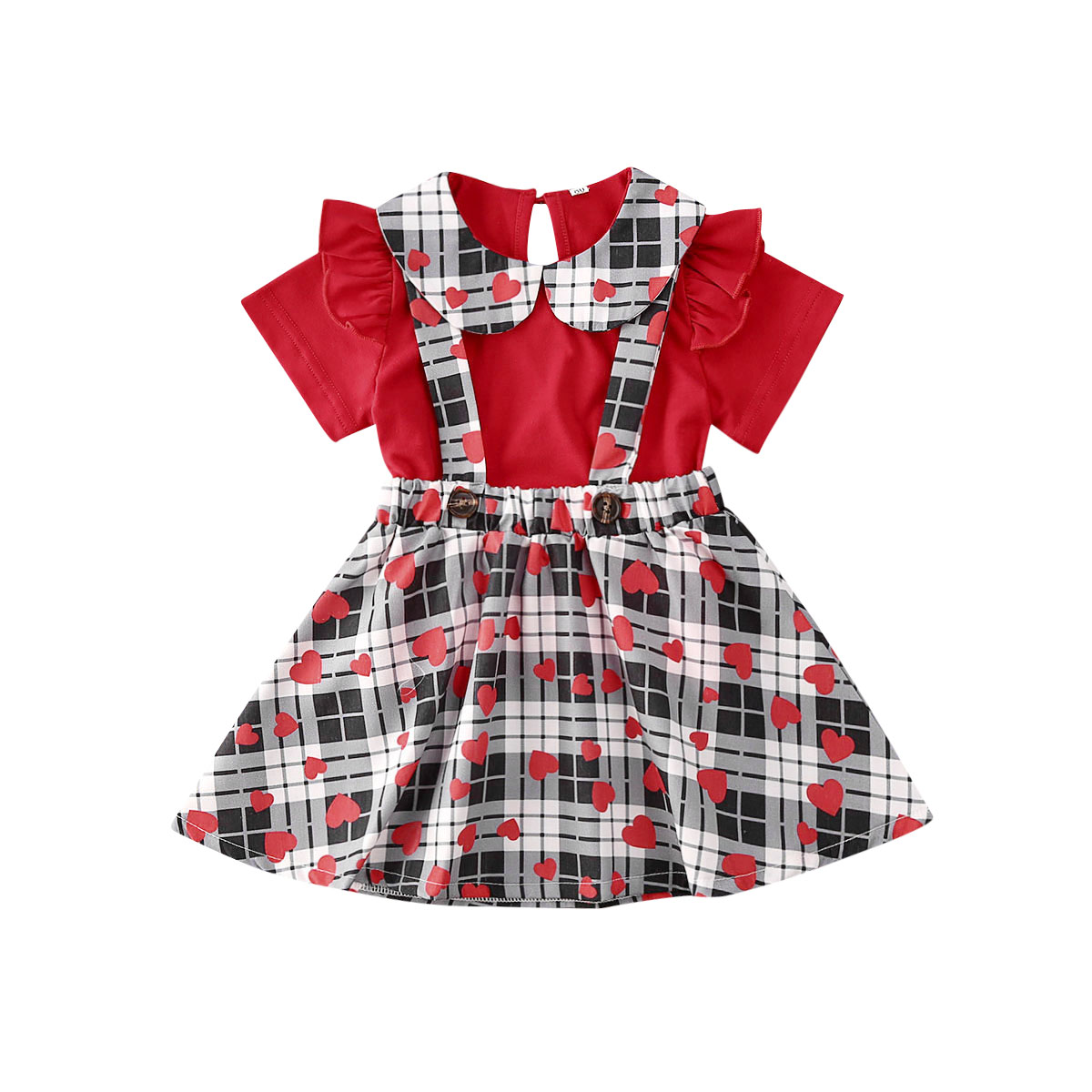 Toddler Kids Baby Girl Floral Top Button Shirt Short Skirts Outfits Clothes Set