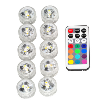 10X Waterproof Remote Control Colored LED Light Boundary Style EFX Accent IP67 Swimming Pool Light