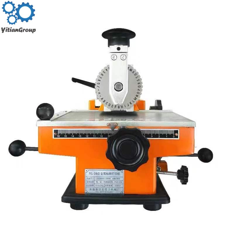 Manual Marking Machine Aluminum Labeling Coder Parameter Metal Label Printer Equipment YL-360