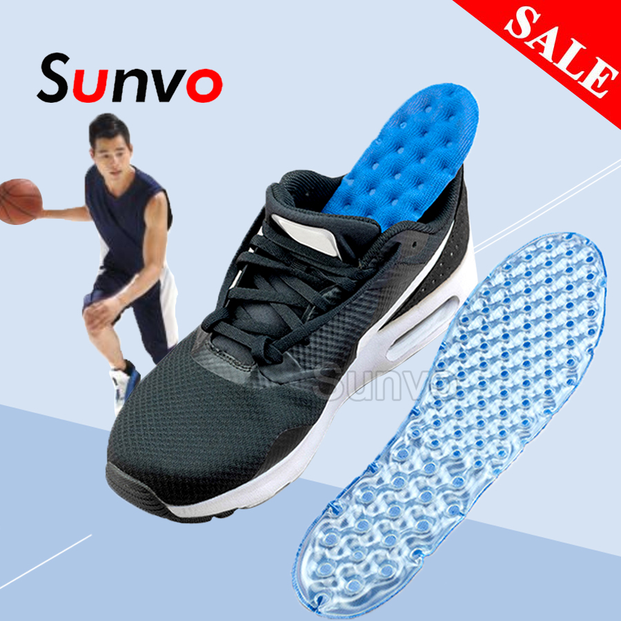 Sport Insoles Air Cushion For Shoes Shock Absorption Damping Running Basketball Football Plantar Fasciitis Pain Relieve Shoe Pad