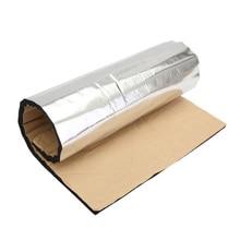12 шт., 5 мм, автомобильный звукоизоляционный коврик с теплоизоляцией, Противоскользящие коврики 50*30 см, дверной капот из стекловолокна, звукоизоляционные прокладки с теплоизоляцией