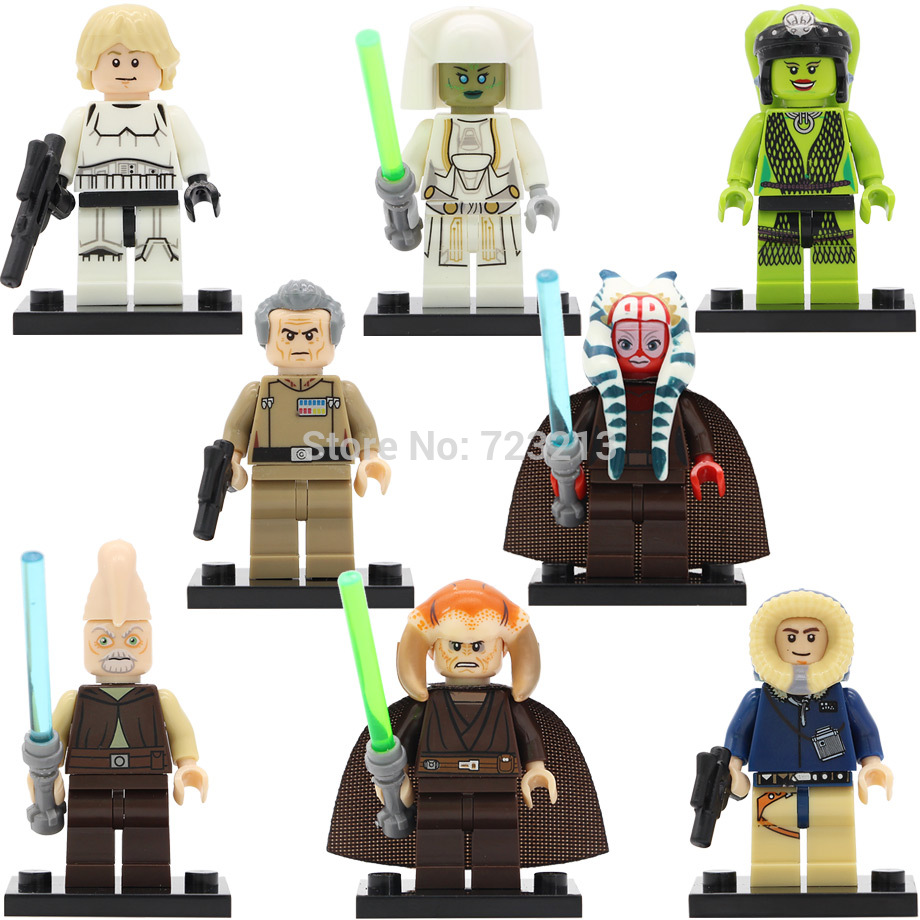 Single Sale Starwars Oola Shaak Ti Luke Figure Saesee Tiin Jedi Consular Han Solo Ki Adi Mundi Building Blocks Toys Legoing