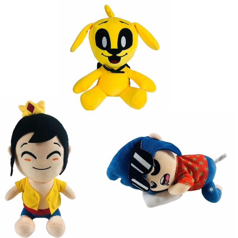 25 см Mikecrack майка для балюстрад, желтые плюшевые игрушки собака мягкие куклы