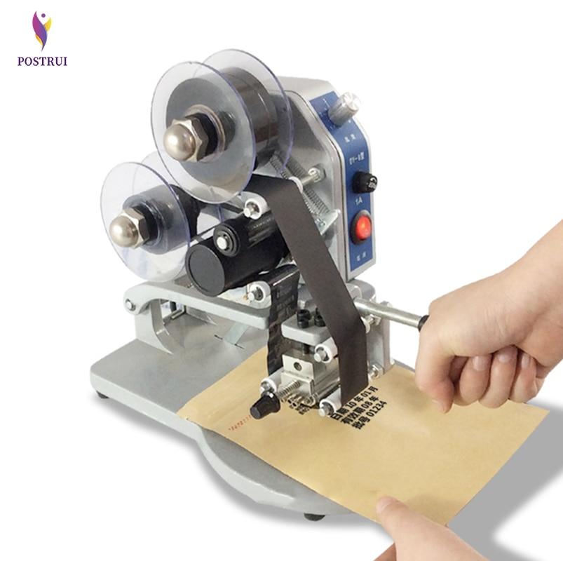 Manual Hot Foil Stamp Date Coder Label Printer DY-8 Ribbon Coding Machine 220V