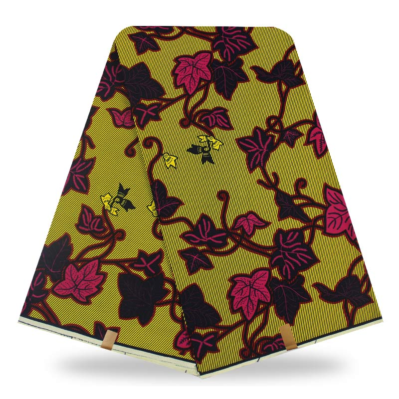 wholesale african fabric wax fabric print ankara High Quality wax cloth 100 cotton material 6yards african