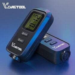 VC100 Medidor de espessura de carro Medidor de filmes digitais de pintura para carro Tester Medidor de espessura de filme com LCD Backlight Medidor de espessura de revestimento Medidor de espessura de revestimento