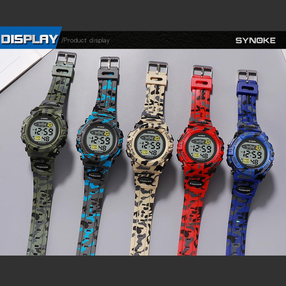 Children Watch Waterproof Colorful Luminous Dial Sports Kid Boys Watch Camouflage Military Watch Student relogio infantil menino