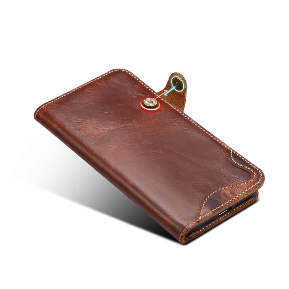 Durable Genuine Leather Wallet Case for iPhone 11/11 Pro/11 Pro Max 10