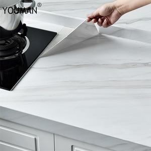 Image 5 - 3D marmur folia winylowa samoprzylepne wodoodporne tapety do łazienki szafki kuchenne blaty papier przylepny naklejka ścienna z PVC