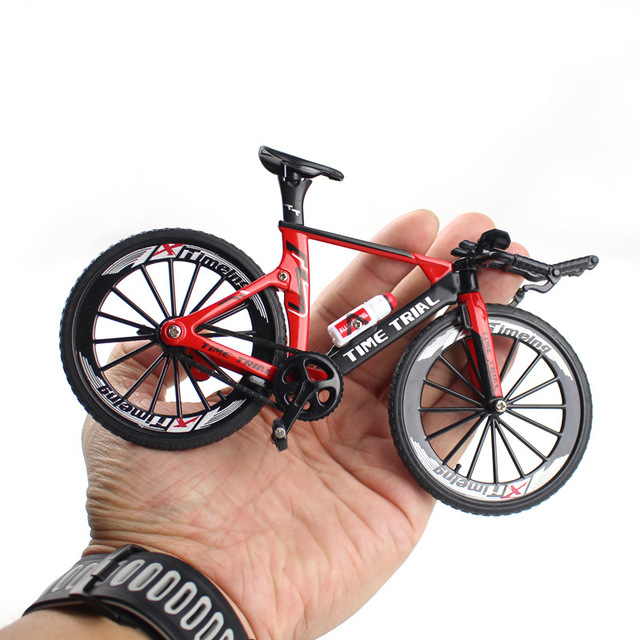 1:10 Alloy Bicycle Model Diecast Metal Finger Mountain bike Racing Toy Bend Road Simulation Collection Toys for children 1