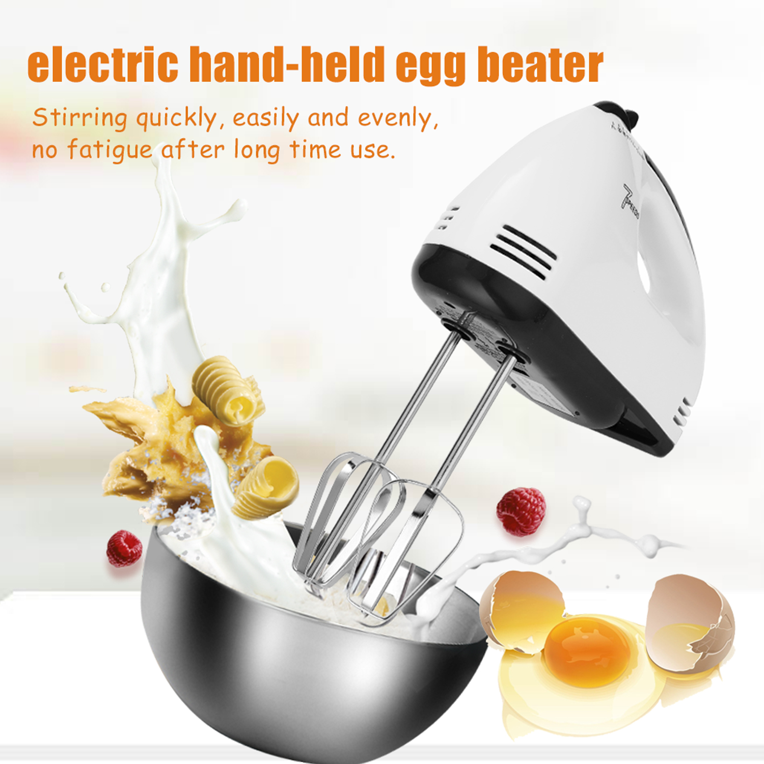 Handheld Electric Egg Beater Machine 7 Speed Adjustable Mixer Pastry Blender For Food Processor Egg Tools Kitchen Mixer EU Plug