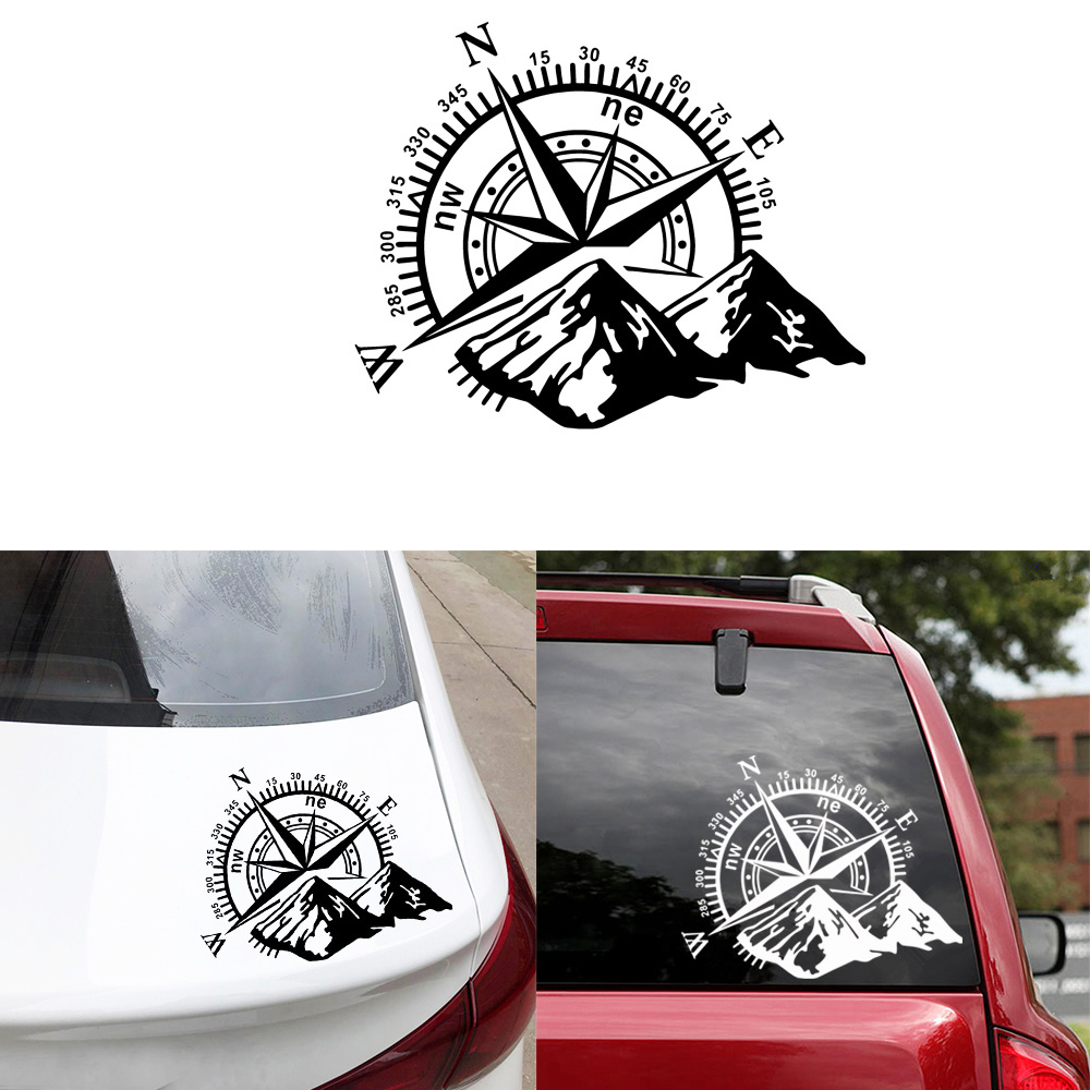 Hot Sale Mountain Compass Car Sticker Funny Vinyl Wrap Car-Styling Decals For Auto Window Motorcycle Decor Cars Accessories