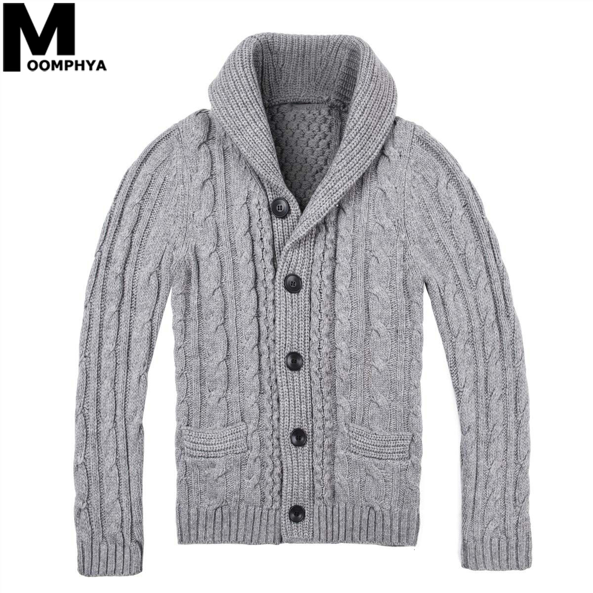 2020 Knitted Long Sleeve Cardigan Men Sweater Streetwear Jacquard Sweater Coat Men Turtleneck Sweater Jacket Winter Sweater Men