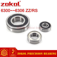 Zokol 6300 6301 6302 6303 6304 6305 6306 zz rs n rolamento de esferas profundo rolamentos de slot snap