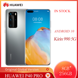 Original huawei p40 pro 5g telefone móvel 6.58 polegadas tela oled 8 gb + 256 gb telefone inteligente 50mp 32mp 4200 mah kirin 990 android 10