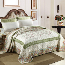 Cotton Quilt Bedspread Coverlet Sheets-Queen Summer Blanket Size-Patchwork Chausub-Quality