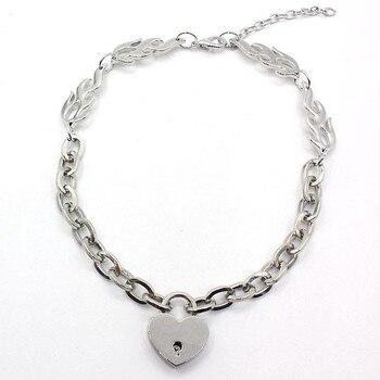 Gargantilla Punk de cristal para Mujer, collar, joyería, regalo, colgante de corazón...