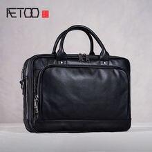 Aetoo мужские сумки первый слой кожи повседневные портфели Кожаные