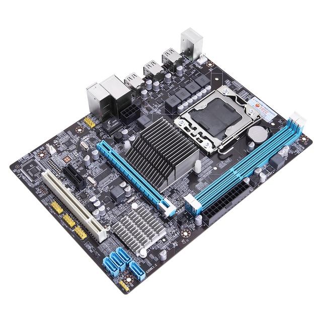 HUANAN ZHI X58 2.0 Motherboard X58 For Intel LGA 1366 X5650 X5675 DDR3 1066/1333MHz 16GB PCI-E SATA2.0 USB2.0 M-ATX