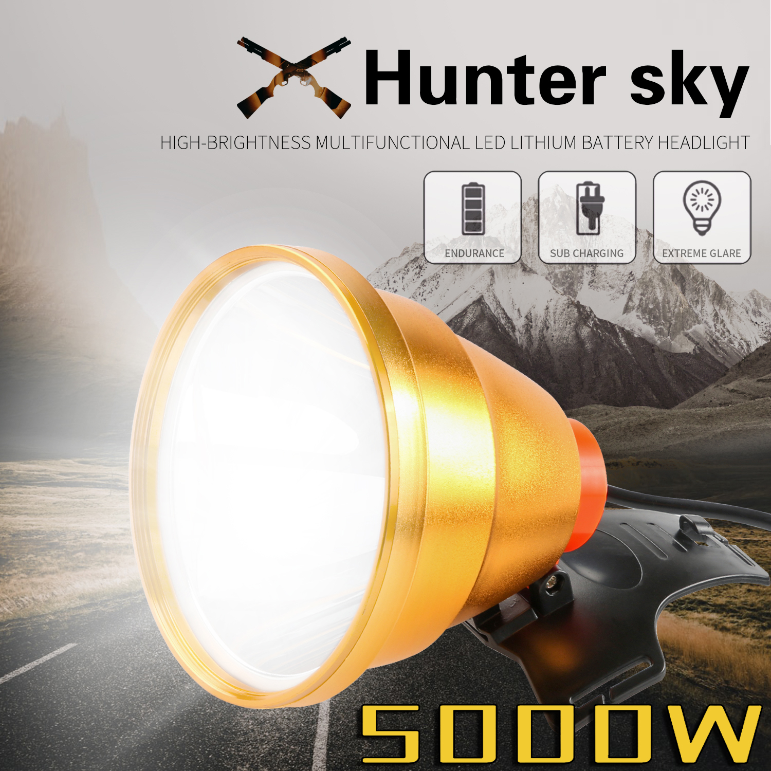 Huntersky IR Sensor Headlight USB Rechargeable high brightness Induction LED Headlamp Fishing Head Light Lamp Lantern fleshlight