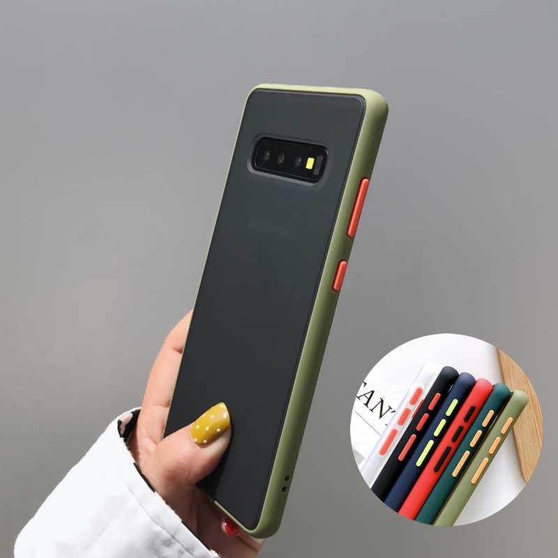 เกราะกันกระแทกสำหรับ Samsung Galaxy S20 Ultra S8 S9 S10 PLUS หมายเหตุ 10 Lite A10 A20 A50 A70 A40 a30 A51 A71 Soft Hard COVER