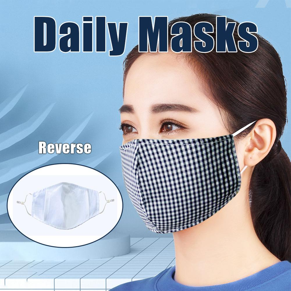 Cotton Face Mask Breathable Stretchable Ear Loops Protection Dustproof Washable And Reusable Durable And Wear-resistant
