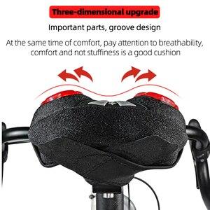 Image 2 - ROCKBROS Fahrrad Sattel Flüssige Silizium Gele Bike Sattel Abdeckung Radfahren Sitz Matte Bequeme Kissen Weiche Sitz Abdeckung für Bike Teil