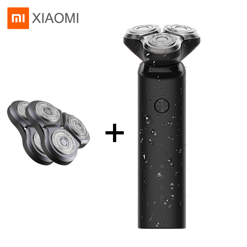 903.92руб. 20% СКИДКА|Xiaomi Mijia электробритва для мужчин IPX7 водонепроницаемый бритвенный станок 3 лезвия с двойным лезвием Turbo сухое влажное Бритье|Электробритвы| |  - AliExpress