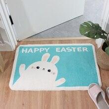 Ours blanc paillasson Shaggy antidérapant Latex fond salle de bain tapis de bain tapis de cuisine tapis d entrée intérieur tapis de sol bleu