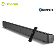 HYASIA 40W TV Soundbar Bluetooth 5.0 Home Theater Sound System AUX Optic Bass 4 Speakers Bluetooth Sound bar for TV 3 DSP effect цена и фото