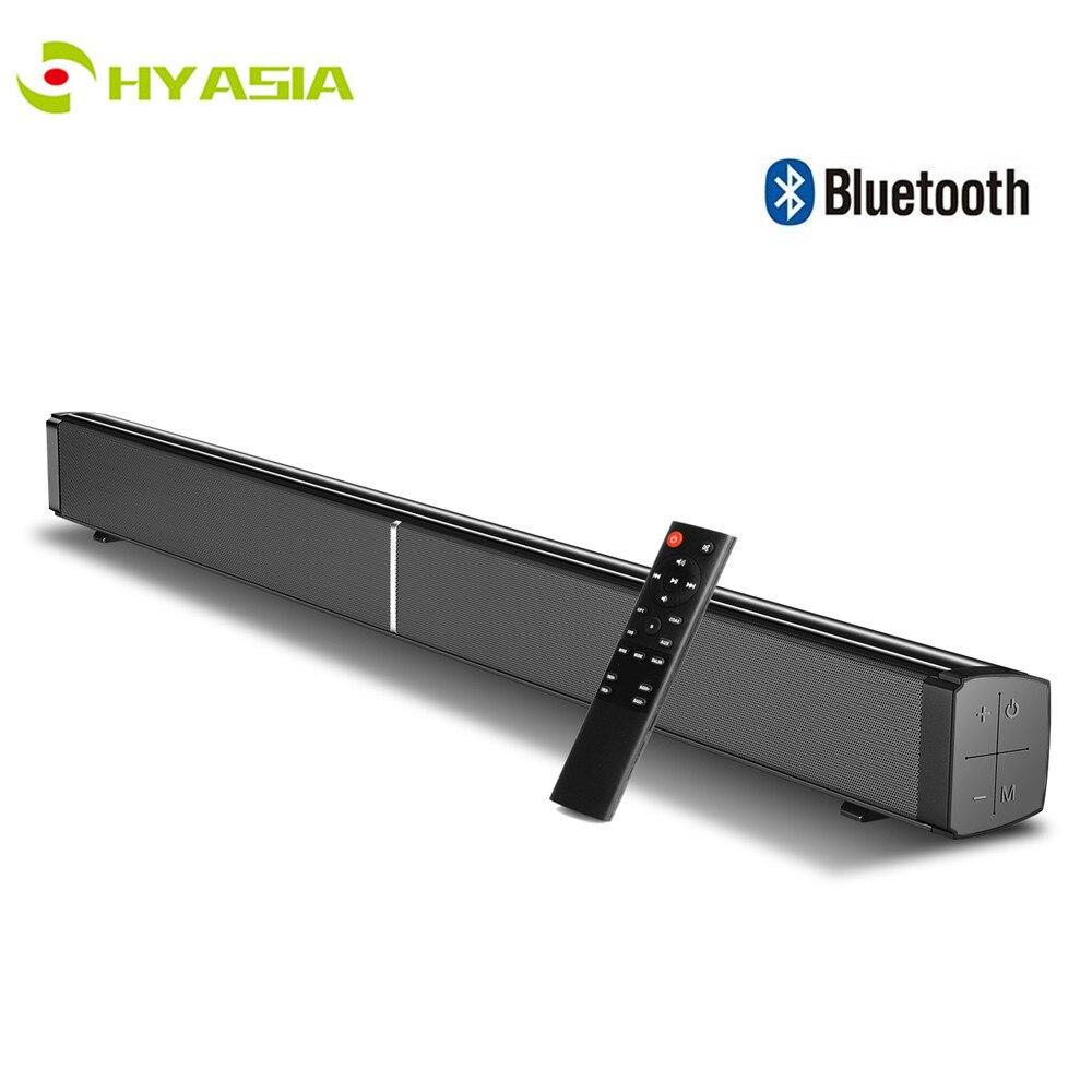 HYASIA 40W TV barre de son Bluetooth 5.0 Home cinéma système de son AUX optique basse 4 haut-parleurs Bluetooth barre de son pour TV 3 DSP effet