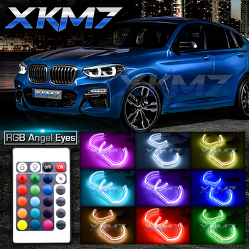 RGB Angel Eyes For BMW E90 E60 X6 E71 F10 E93 F30 E92 E87 E82 E72 M4 Tuning Accessories LED Halo Ring DTM DRL Headlight Retrofit image