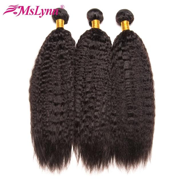 Verworrene Gerade Haar Bundles Brasilianische Haar Weave Bundles Menschliches Haar Bundles 3/4 Mslynn Remy Haar Verlängerung Natürliche Schwarz