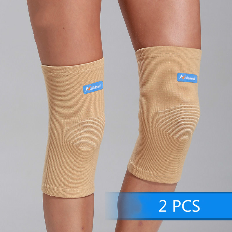 2pcs Knee Sleeve Protector Arthritis <font><b>Injury</b></font> Brace Support Gym Fitness <font><b>Sport</b></font> Compression Elastic Bandage Knee Pads for Women Men image