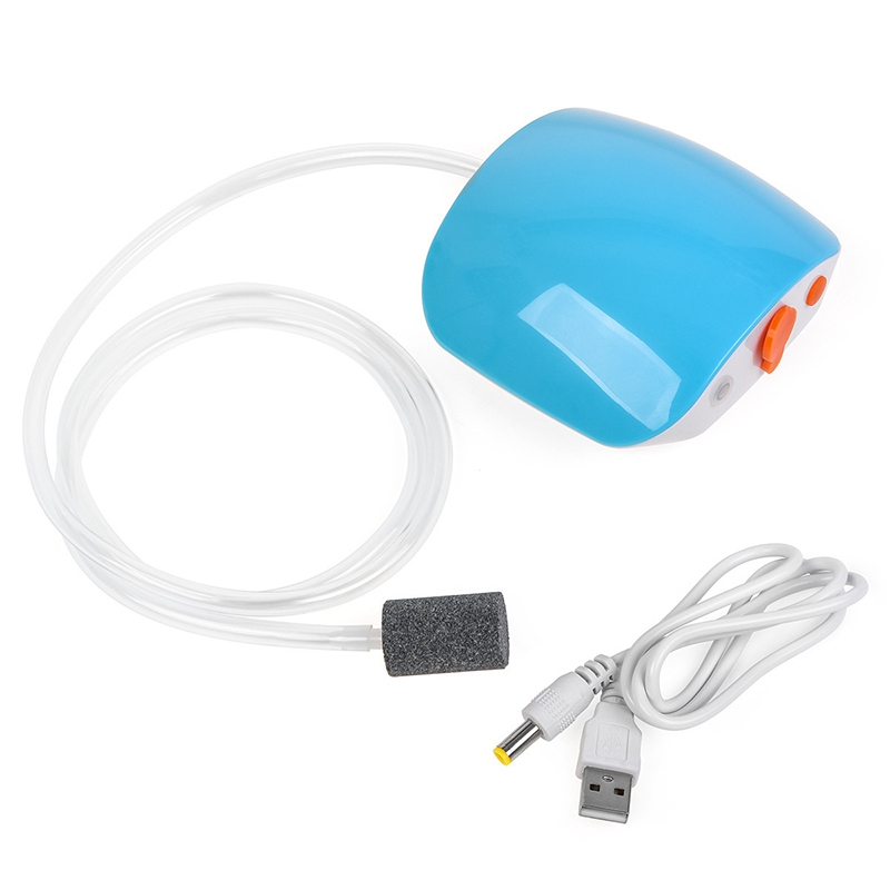 Quality Usb Charging Rechargeable Lithium Battery Power Super Mute Aquarium Fish Tank Air Pump Oxygen Air Compressor Pump