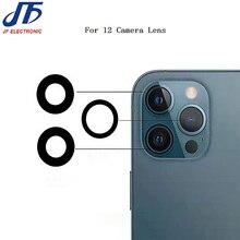 20ชิ้น/ล็อตเลนส์กล้องใหม่สำหรับ Iphone 11 12 Pro Max Mini SE2เลนส์กล้องด้านหลังฝาครอบกาว