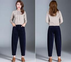 Fall 2019 new style jeans em8 women velvet loose corduroy trousers trousers casual pants kk2110-06