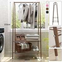 Multifunctional Coat Rack Floor Standing Clothes Hanging Storage Shelf Clothes Hanger Racks Simple Metal Iron Bedroom Furniture