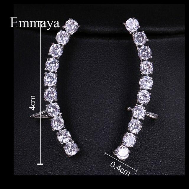 Emmaya Distinctive Design Symmetrical Cubic Zircon With Differernt Shape Elegant Earrings Silver Plated Female In Bridal Party