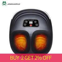 Jinkairui 220V EU prise électrique anti-stress masseur de pieds vibrateur Machine de Massage infrarouge chauffage thérapie dispositif de soins de santé