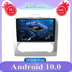Single DIN Android 10 GPS Navigation PX6 System Car Radio Video Player GPS 2004 2005 2006-2011 ForFord For Focus Exi AT 4G RAM