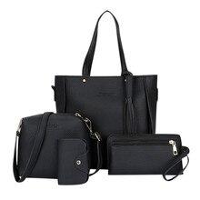 Bolso de mujer 2019 nueva moda de cuatro piezas bolso de hombro bolso de mensajero bolso de mano Bolsa femenina de lujo salvaje chicas mensajero bolsa
