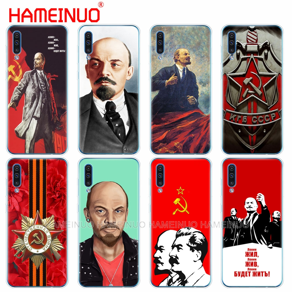 silicon phone cover case for <font><b>Samsung</b></font> Galaxy S10 E PLUS <font><b>A10</b></font> A20 A30 A40 A50 A70 A10E A20E M20 cover lenin Soviet Union <font><b>flag</b></font> image